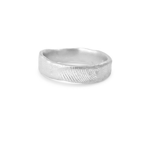 Misty Forest Fingerprint Mens Ring