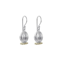 Poppy Earrings, silver