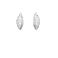 Olive Leaf Earrings, silver