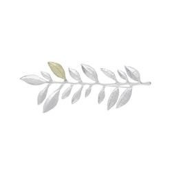Olive Branch Brosch, silver / guld