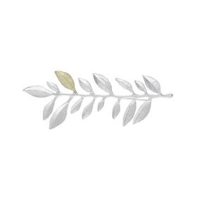 Olive Branch Brooch, silver