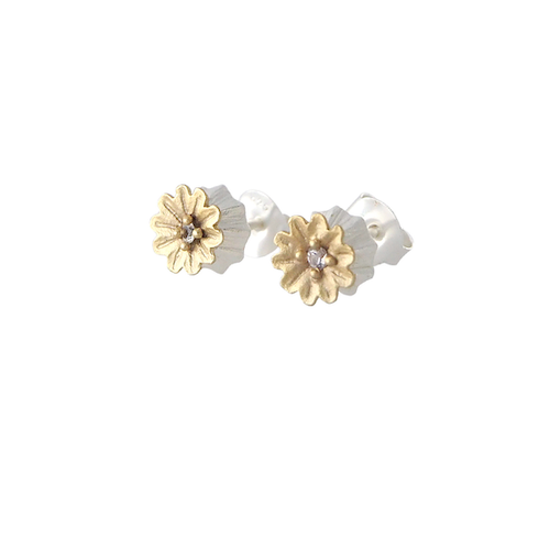 Poppy Stud Earrings, silver