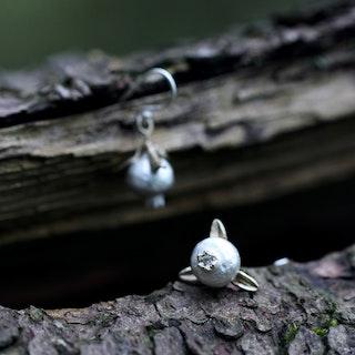 Pomegranate Örhängen, silver