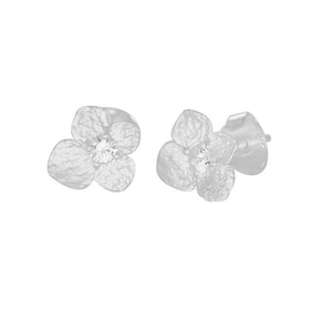 Hydrangea Petite Earring, silver