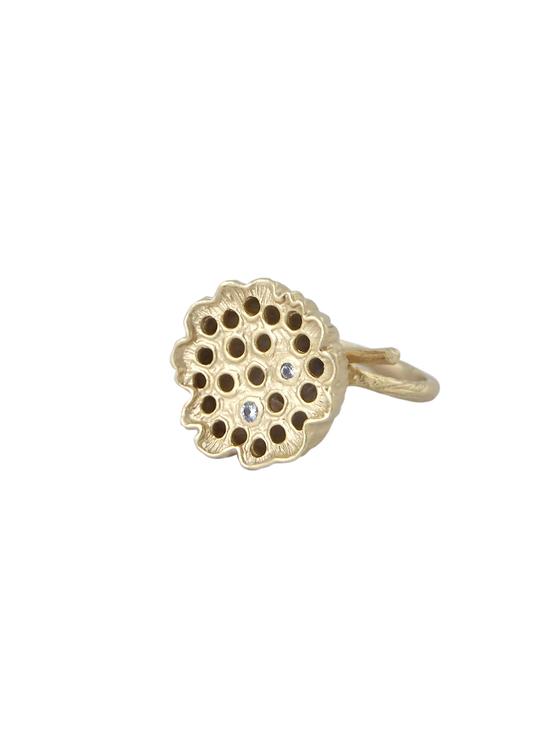 unik ring brons/guld