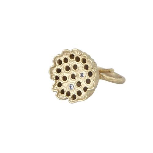Lotus Ring, brons/guld