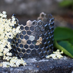 Honey Comb Bracelet, bronze