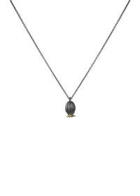 Poppy Seed Necklace, bronze