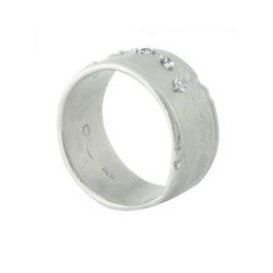 Misty Forest Moon Silver Ring