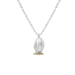 Poppy Seed Necklace, silver