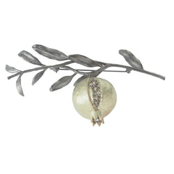 Pomegranate Tree Brooch, bronze