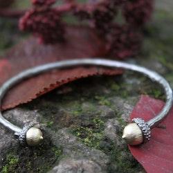 Guldigt ekollon Armband, brons