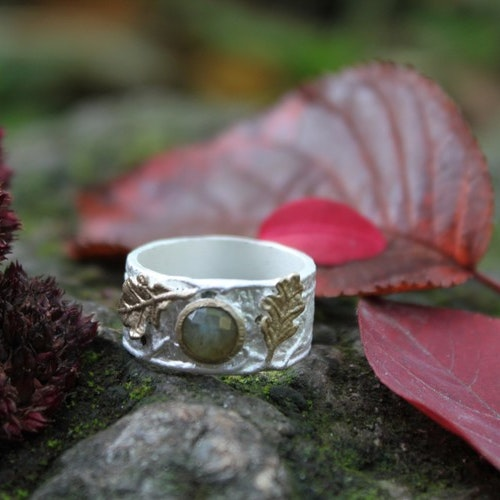 Gilded Forêt Ring, silver