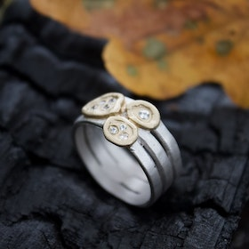 Misty Forest Clay Ring