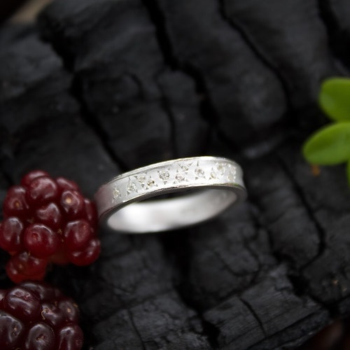 Misty Forest Dew Drops Silver Ring