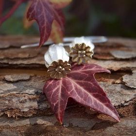 Poppy Earrings, silver