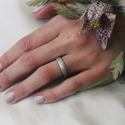 Misty Forest Birch Ring- Silver