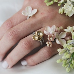 Misty Forest Cluster Ring- Silver