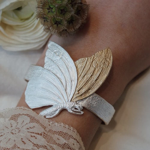 Fluttering Wings Armband, silver