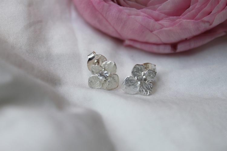 Hydrangea Petite Örhängen, silver
