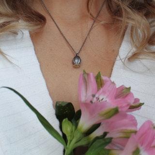 Poppy Seed Necklace, bronze