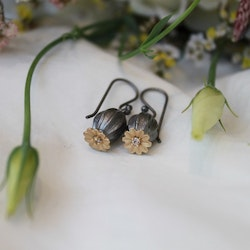 Poppy Earrings, bronze