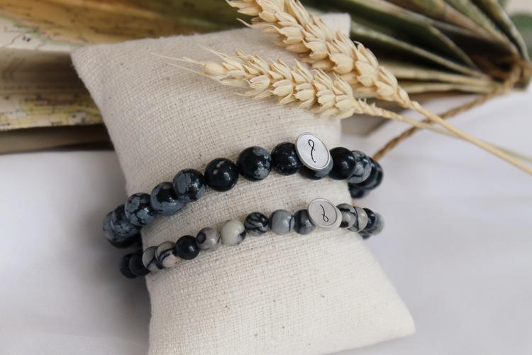 Bracelet Zebra agate stone
