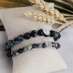 Armband Zebra agat stone