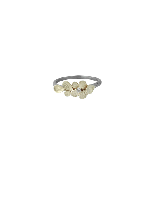 Plum Dahlia Ring, Bronze