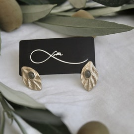 Samos Olive Earrings - Bronze