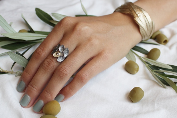 Thassos Olive Ring - Brons