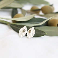 Samos Olive Earring - Silver