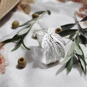 Pistachio Branch Armband - Silver