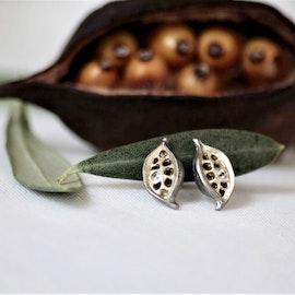 Seeds earrings stud- Bronze