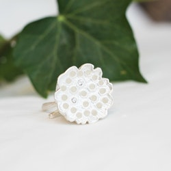Lotus Silk Ring - Silver