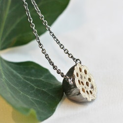Poppy necklace short - silver