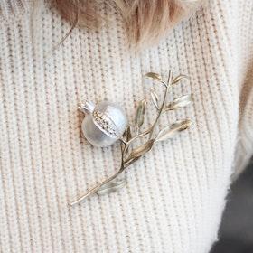 Pomegranate Tree Brosch - Silver