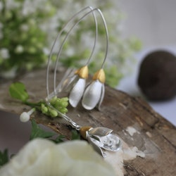Snowdrops Earrings - Silver