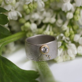 Misty Forest Frosty Midnight Ring - Gold