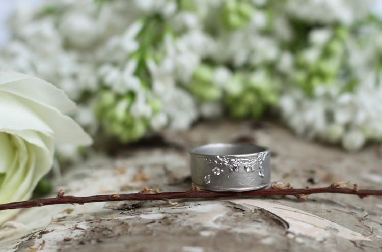 Misty Forest Moon Ring
