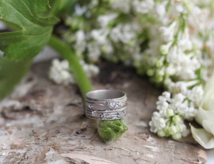 Misty Forest Planet Earth ring