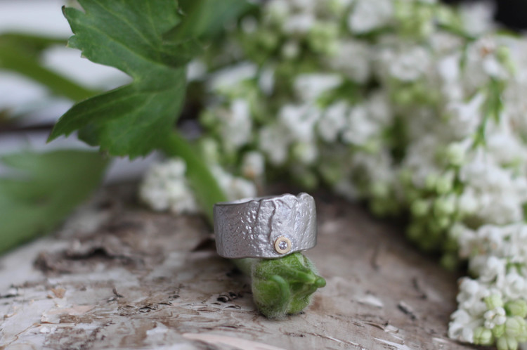 Misty Forest Garden Ring - Gold