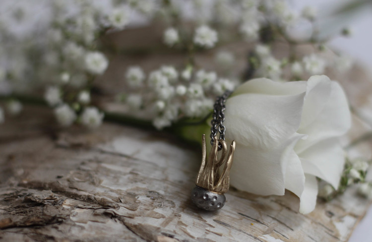 Dandelion Halsband- Brons