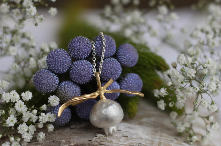 Queen of the Pomegranate Halsband - Silver