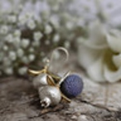 Pomegranate Earrings, silver
