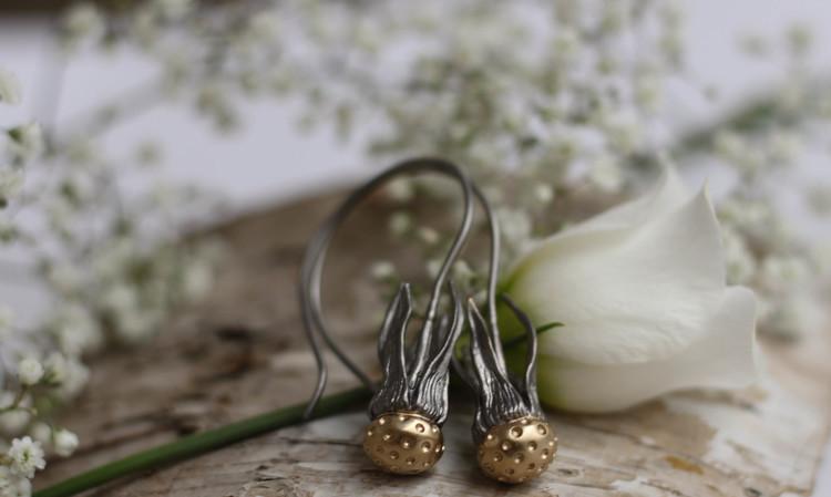 Dandelion Örhängen - Brons