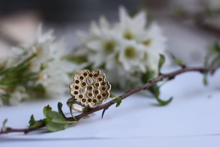 Lotus Silk Ring - Brons