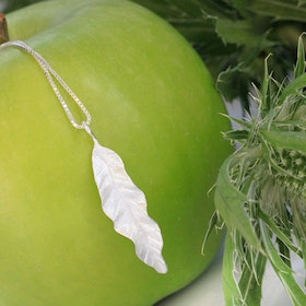 Thin Leaves Halsband - Silver