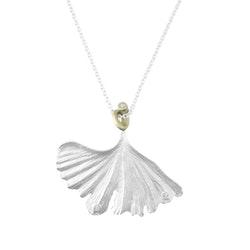 Ebisu Ginkgo Halsband - Silver