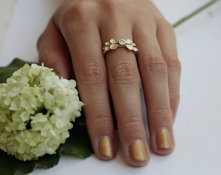 The Sublime Dahlia Ring - Silver